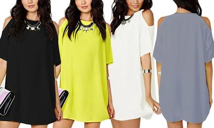Cutout Shoulder Summer Dress