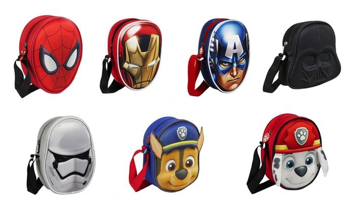 Groupon Goods Global GmbH: Borsello 3D Disney a tema Marvel, Star Wars o Paw Patrol disponibile in vari modelli