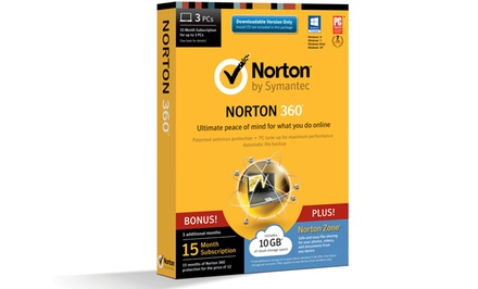 Norton 360 for 3 PCs with Norton Zone