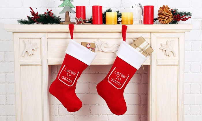 Letter Christmas Stockings.One Or Two Letter To Santa Christmas Stockings