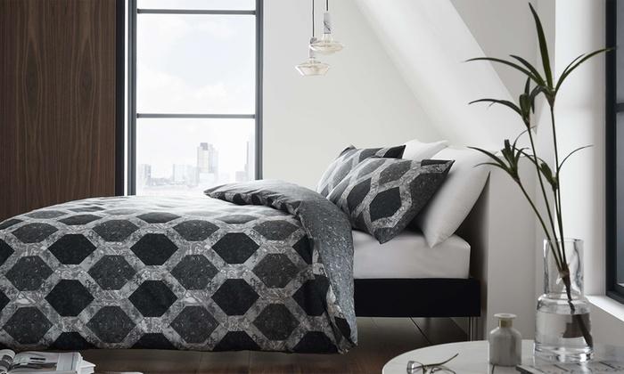 200TC Marble Deco Reversible Duvet Set from £15