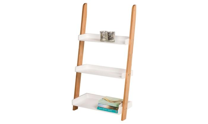 Three-Tier Ladder Storage Rack