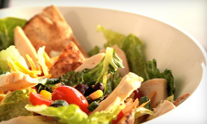 The Chopped Leaf - Kelowna: $10 for $20 Worth of Healthy Salads, Wraps, and Soup at The Chopped Leaf