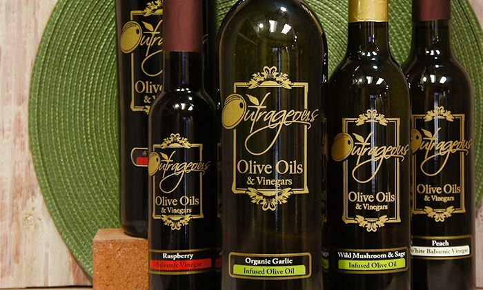 Outrageous Olive Oils and Vinegars - Old Town Scottsdale : Olive Oil or Balsamic Vinegar from Outrageous Olive Oils and Vinegars (47% Off)