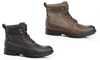 Solo Perry Chukka Combat Mens Boots (Black / Brown)