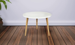 Mid-Century Modern Round Accent Table