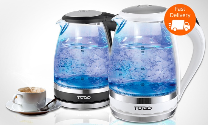 $25 for a Todo 1.5L Cordless LED Glass Kettle with 360° Rotating Base (Don't Pay $129)