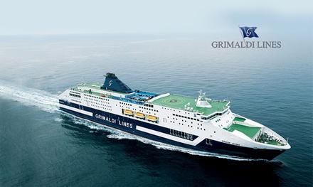 Buono sconto del 30% o del 40% sull'acquisto dei collegamenti marittimi Grimaldi Lines