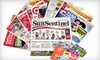 """Sun Sentinel - Palm Beach: $10 for a One-Year Sunday Subscription to the """"Sun Sentinel"""" ($208 Value)"""