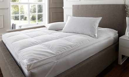 Goose Down Feather Mattress Topper with Optional Pillows