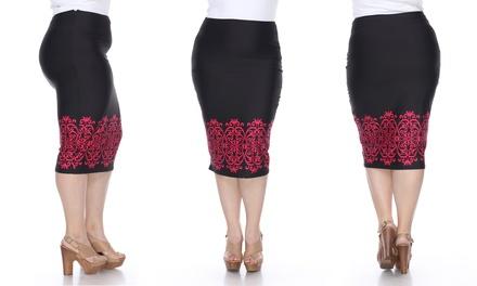 Women's Plus Size Eden Pencil Skirt (Sizes 2X & 3X)