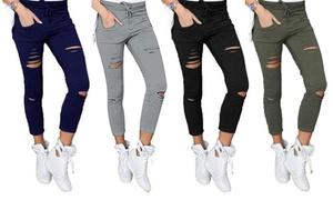 (Mode)  Pantalon stretch et slim déchiré -78% réduction