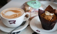 Hot Drink with Freshly Baked Muffin or Cake Slice for One or Two at Muffin Break, Seven Locations