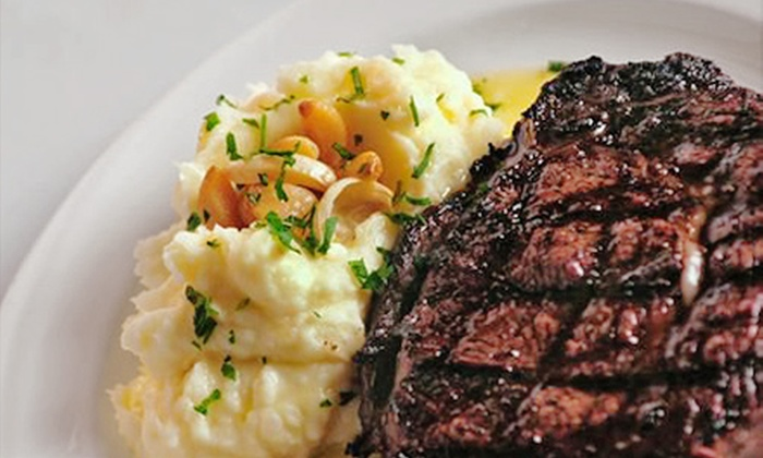 St. Charles Place Steak House - St. Charles: $27.50 for $50 Worth of Steak and Seafood at St. Charles Place Steak House