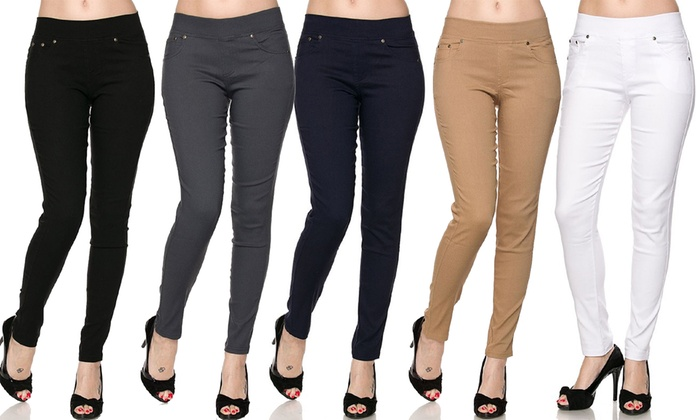 Slimming Skinny Pants (3-Pack) | Groupon Goods