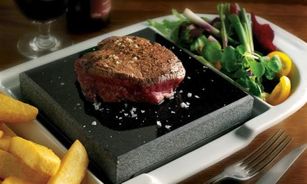 Black Rock 8oz Sirloin Steak for Two or Four at The White Lion Hotel (50% Off)