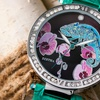 Bertha Camilla Chameleon Engraved Mother-Of-Pearl Watch
