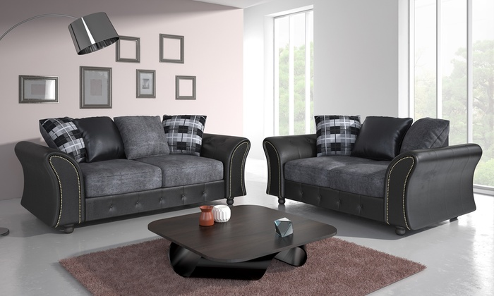 Oakland sofa set groupon Groupon uk living room furniture