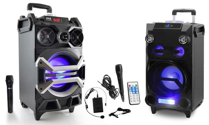 speakers karaoke. pyle portable bluetooth karaoke speaker systems: system with wireless microphone speakers