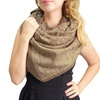 Peach Couture Double-Layer Paisley Pattern Oversized Blanket Scarf