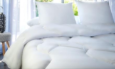 Couette chaude 500g/m² et oreiller anti acariens Phytopure huiles essentielles, marque Blanrêve, Fabrication Française
