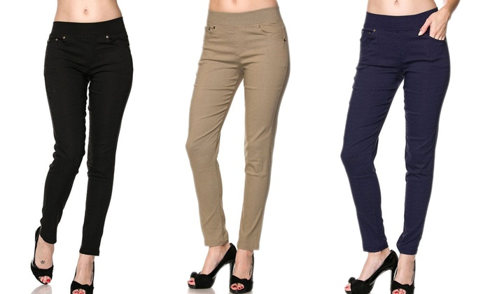 e25d0f1a2eb03 Women s Plus-Size Five-Pocket Jeggings (3-Pack)