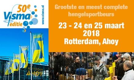 Ticket voor de 50e editie van hengelsportbeurs Visma op 23, 24 of 25 maart 2018 in Rotterdam Ahoy