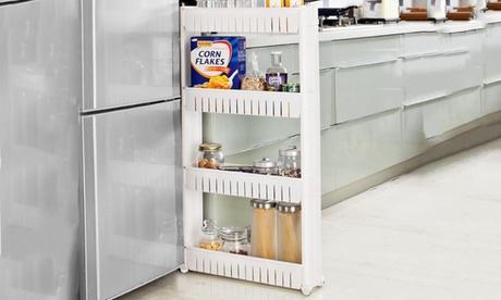 Carrito para cocina o baño con ruedas y 3 o 4 estantes