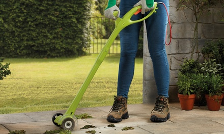 Electric Weed Sweeper with Optional Grass Trimmer Head or Accessory Pack