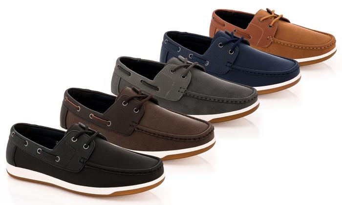 Franco Vanucci Men's Boat Shoes – Multiple Styles