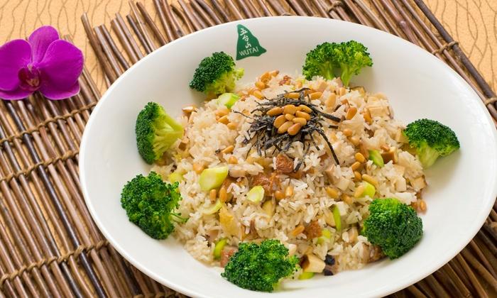 Wutai Vegetarian Restaurant - Wutai Vegetarian Restaurant: Chinese Food at Wutai Vegetarian Restaurant (Up to 50% Off). Three Options Available.