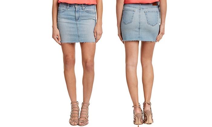 AG Jeans Sandy Women's Light Wash Denim Skirt (Size 31)