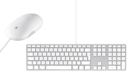 Refurbished Apple USB Keyboard A1243 and Mighty Mouse MB112ZM/C for £39.99 With Free Delivery