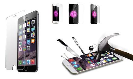1 ou 2 Packs Protecteurs en Verre trempé solide pour Apple iPhone 4/4S/ 5/5S/5C/SE/6/6S, 6+/6S+, 7/7+, 8/8+ et X