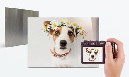 1 o 2 impresiones con imágenes personalizadas sobre metal de tamaño a elegir con Printerpix (Gastos de envío excluidos)