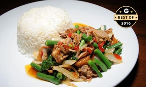 JumboThai Haymarket: $6 Thai Curry or Stir Fry and Bottle of Water for Lunch or Dinner at JumboThai Haymarket (Up to $13 Value)