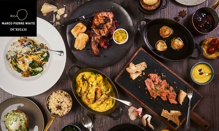TwoCourse Lunch for Two or Four at Marco Pierre White Durham