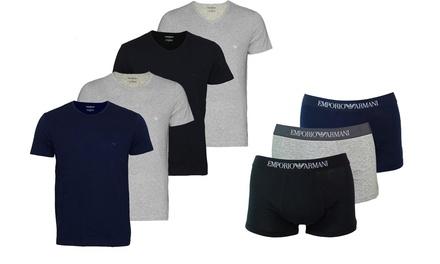 2 T-shirts et 3 Boxers Armani, modèle et taille au choix, à 29,98€ (jusqu'à 62% de réduction)