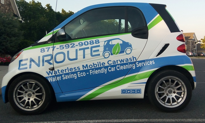 Enroute : A Waterless Mobile Carwash Service