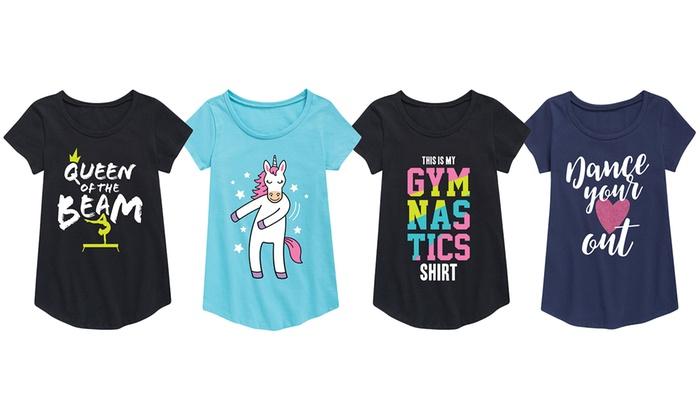 8b9155cd9 Toddler Girls Dance and Gymnastics Tees | Groupon