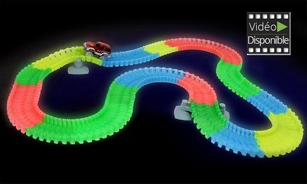 Circuit magique flexible, lumineux et phosphorescent, jusquà 220 pièces