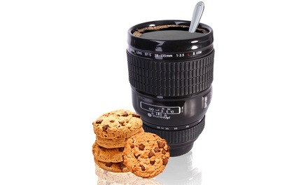 One or Two Thumbs Up Ceramic Camera Lens Cups