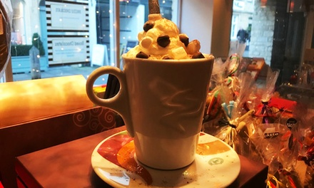 Hot Chocolate or Milkshake with Sweets and Optional Ice Cream Scoop for Up to Four at Drizzle Chocolate