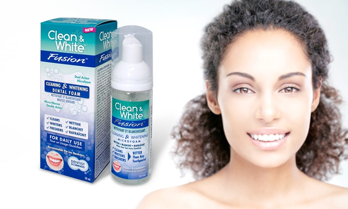 Groupon Goods Global GmbH: Clean & White Teeth Whitening Foam for £8.99 With Free Delivery (70% Off)