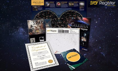 Name a Star - Deluxe ($12) or Milkyway Package ($19) from Star Register (Up to $99 Value)