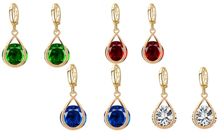 Drop Earrings Made with Crystals from Swarovski® for £6.98 (65% Off)