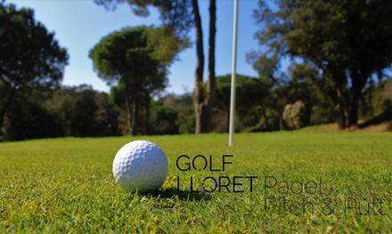 5 o 10 clases particulares de golf (nivel iniciación) desde 69 € en Golf Lloret Padel Pitch & Putt