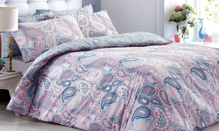 Pieridae Reversible Paisley Duvet Cover Set in Choice of Colours
