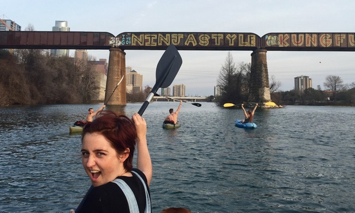 """Big Tall Gringas - Austin: """"Keep It Weird"""" Austin Kayak Tour for Two or Four from Big Tall Gringas (Up to 48%Off)"""