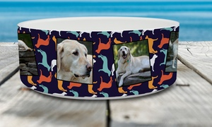 Mailpix: One or Two Personalized Pet-Food Bowls from MailPix (Up to 83% Off)